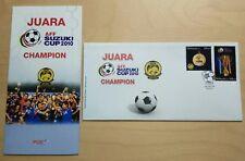2011 Malaysia AFF Suzuki Cup 2010 Football Champion 2v Stamp FDC (Melaka Cachet)