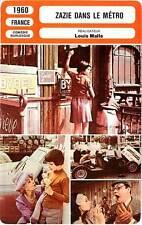 FICHE CINEMA : ZAZIE DANS LE METRO  Demongeot,Noiret,Malle 1960 Z. in the Subway