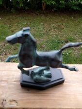 Vintage Chinese Bronze Statue of Running Horse with Nice Patina