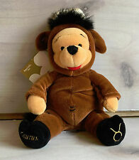 A11 Disney Bean Bag Taurus Pooh Bear Plush! 5 Inch Stuffed Toy Limeted Zodiac
