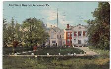EMERGENCY HOSPITAL Carbondale PENNSYLVANIA - 1912 POSTCARD Lackawanna county