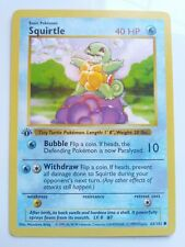 Pokemon 1st Edition Base Set Shadowless Squirtle Mint-Near Mint WOTC!!