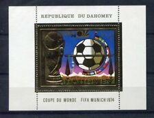 S5100) Dahomey 1974 MNH Wc Football - World Cup Football S/S GOLD