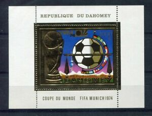 S5100) Dahomey 1974 MNH Wc Football - World Cup Football S/S GOLD