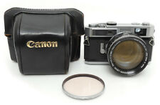 Canon 7 Body + 50mm F0.95 Lens. Canon 72mm Filter. Camera Case