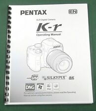 Pentax K-R Operating Manual: 355 Pages & Protective Covers!