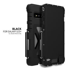 For Samsung Galaxy S10+ S10 Plus  Armor King 360° Flip Metal Case Cover Black