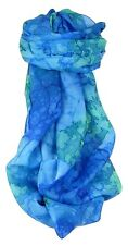 Mulberry Silk Hand Painted Long Scarf Classic Blueberry by Pashmina & Silk