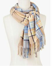 TALBOTS PURE CASHMERE SCARF - COLORFUL PLAID