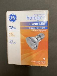 Seven (7) GE Halogen Floodlights 69163 38PAR20H/FL25 38W 490 Lumens Par 20 Bulbs