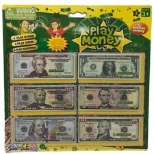Play Money Fake Paper dollar Bills Kid Play Pretend Currency Bank store shopping