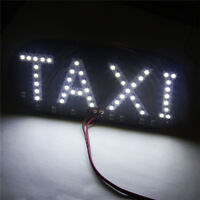 Hot Sale Taxi Cab Windscreen Windshield Sign White LED Taxi Light Lamp Bulb New