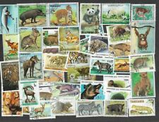 Wild Animals 100 all different stamps collection