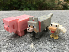 Minecraft Overworld 3pcs Animial Figures Pig/Wolf/Duck By Jazwares New Loose