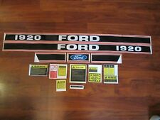 Ford tractor 1920 decal set stickers with caution labels   1115-1570