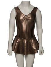 Girls Lycra sleeveless Ruched Leotard And Attached Skirt