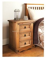 HIGH QUALITY SOLID ELEGANT 3 DRAWER BEDSIDE TABLE CABINET STORAGE CHEST UNIT NEW