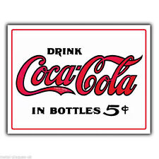 METAL SIGN WALL PLAQUE DRINK COCO-COLA In Bottles Vintage Old poster art picture