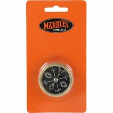 Marbles Brass Large Pocket Compass Camping Waterproof Revolving Black Face