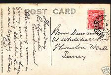 Genealogie Postkarte-Vorfahren Geschichte-Dawson-Thornton Heath-Surrey A9282