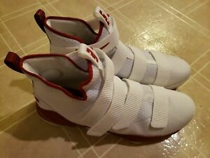 Nike Zoom Lebron James Soldier X 10 Men's Basketball Shoes - Size 15.5 Red/White