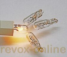4 x Lämpchen, Lampen, 24 V 30 mA, für alle Studer Revox B215 Tapedecks, Bulb