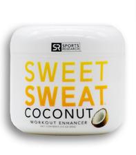 Sports Research Sweet Sweat Coconut Jar, 3.5-Ounce