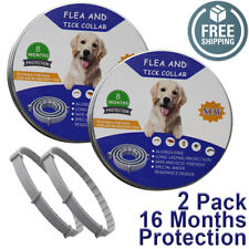 TWO PACK Natural Flea and Tick Collar for Large Dogs 8 Months Control USA 2 ECO