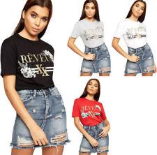 T-shirt, maglie e camicie da donna multicolore grafici in misto cotone