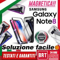 COVER CUSTODIA MAGNETICA PER SAMSUNG GALAXY NOTE 8 SM-N950F N950 FULL BODY VETRO
