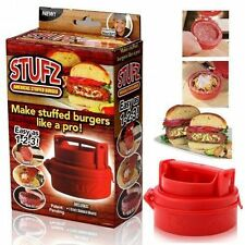 STUFZ-PELUCHE-BURGER-Press - Hamburger-GRILL-BARBECUE-Patty - Maker-Juicy-AS-VISTO - On-TV