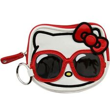 $17 Hello Kitty Sunglasses Face Coin Bag (white / red / black)