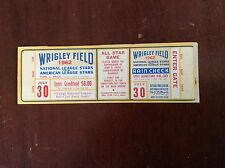1962 Full All Star ticket Proof (no seat numbers)