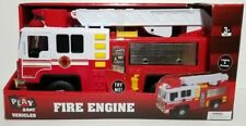 Fire Truck Toy Fire Engine, Ladder Rescue, Lights and Sounds Free Wheeling