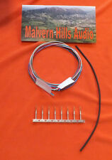 4 Colour Tone Arm / Tonearm Rewire Silver-Plated Teflon 4 Metre + Tags + Sleeves