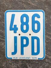 Moped - Kennzeichen, Nummernschild von 1970, Kreidler, DKW, Zündapp etc.