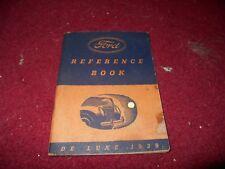 1939 FORD DELUXE DE LUXE OWNERS MANUAL HANDBOOK GUIDE BOOK ORIGINAL RARE!