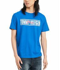 Tommy Hilfiger Men's Crew Neck THD Short Sleeve Logo T-Shirt (Blue, XL)