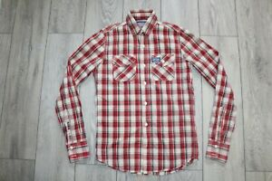 SUPERDRY SLIM-FIT CHECKED SHIRT S SMALL