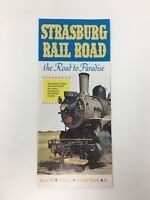 1965 Strasburg Railroad Visitors Pamphlet Advertising Vintage PA Pennsylvania