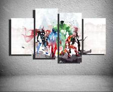 HD Canvas Print Art Home Decor Painting Wall Art  Modern Avengers Watercolor 4pc