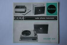Sammlungsauflösung altes Prospekt RFT radio phono television Decent 306 !!!