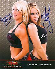 ANGELINA LOVE & VELVET SKY TNA SIGNED AUTOGRAPH 8X10 PROMO PHOTO W/ PROOF