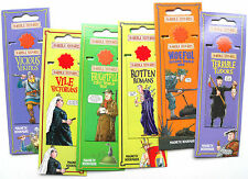 HORRIBLE HISTORIES Magnetic BOOKMARKS, First World War, Romans, Tudors, Vikings