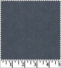 Shadow Play Woolies Flannel - Denim Herringbone F1841-N2