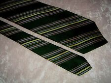 "vintage neck tie necktie FUNKY CHUNKY fat wide 4.25"" green striped 1970s DISCO"