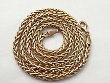 SUPERB SOLID 9CT GOLD CHUNKY SNAKE LINK CHAIN NECKLACE 18.5 INCH  8.4 GRAMS