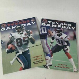 2 INAUGURAL YEAR 2002 HOUSTON TEXANS V GAINTS & BUCCANEERS GAME PROGRAMS