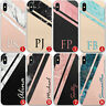 PERSONALISED NAME/INITIALS MARBLE HARD CASE FOR SAMSUNG GALAXY S10 10e 10+ - 010