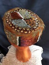 Vintage 1950's Pheasant Feather Hat Excellent Condition